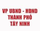 VP UBND - HĐND TP Tây Ninh