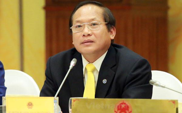 Bộ trưởng Trương Minh Tuấn trả lời chất vấn chiều ngày 18/4 (ảnh VOV).