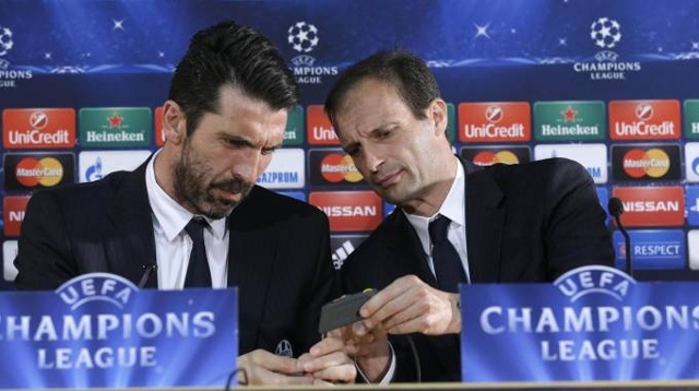 Massimilano Allegri và Buffon sẵn sàng thay đổi lịch sử để biến Real Madrid trở thành những nhà cựu vô địch - Ảnh: Internet