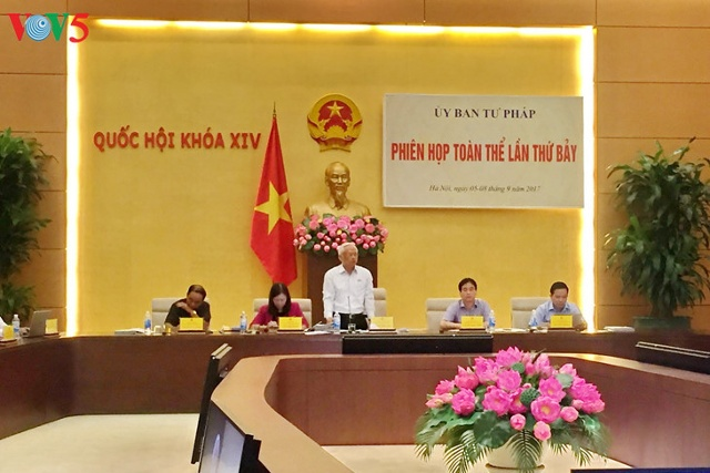 Khai mạc phiên họp toàn thể lần thứ 7 Ủy ban tư pháp Quốc hội