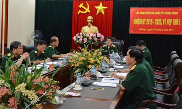Thượng tướng Lương Cường chủ trì kỳ họp.