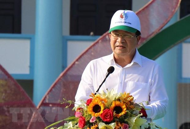 Description: Phó Thủ tướng Trịnh Đình Dũng phát biểu tại lẽ phát động. (Ảnh: Huỳnh Sử/TTXVN)