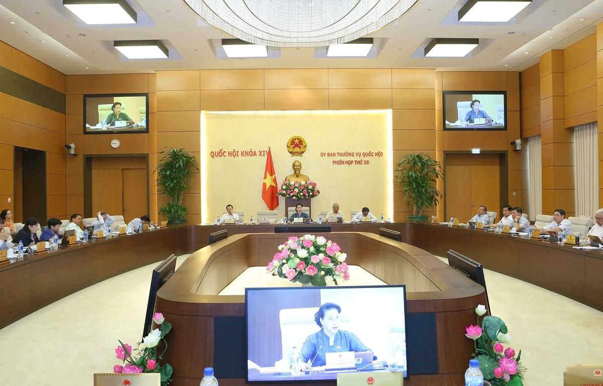 Description: Quang cảnh phiên họp tổng kết kỳ họp thứ 7. Ảnh: Doãn Tấn/TTXVN