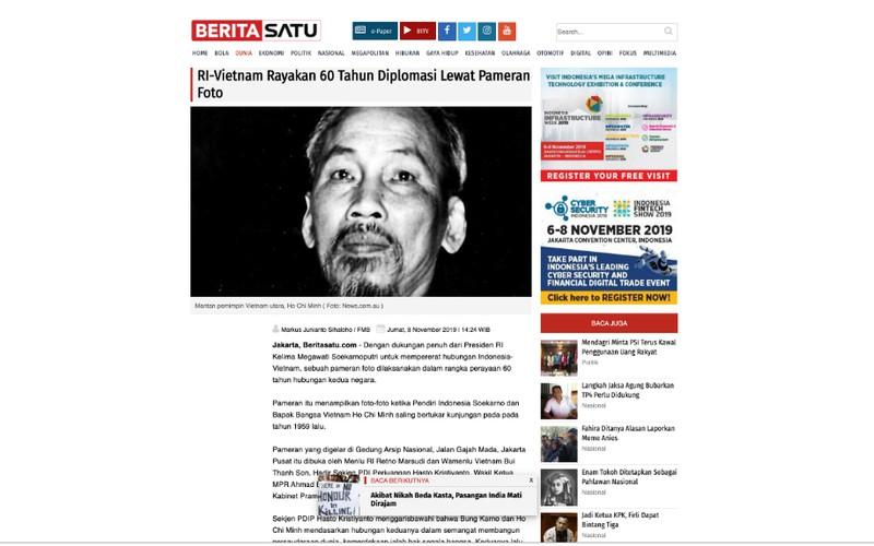 Description: bao chi indonesia dua tin dam net le ki niem 60 nam chuyen di cua bac hinh 1