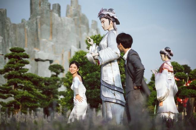 Bộ ảnh cưới đẹp như mơ tại vườn Nhật Bản giữa lòng Hà Nội