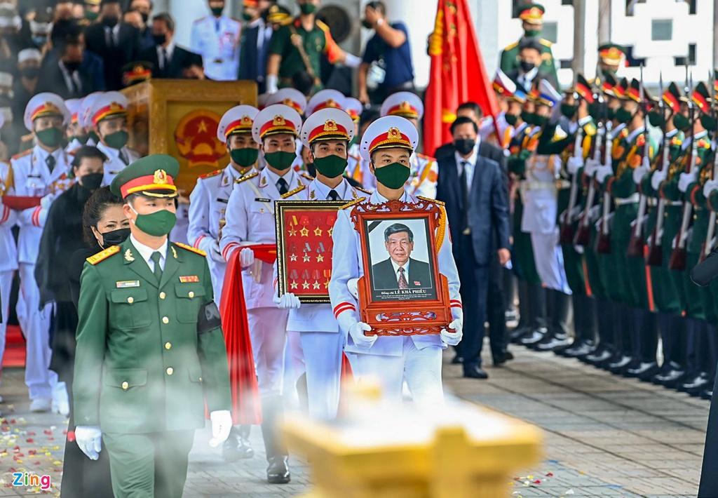 Hình ảnh lễ truy điệu và an táng nguyên Tổng bí thư Lê Khả Phiêu