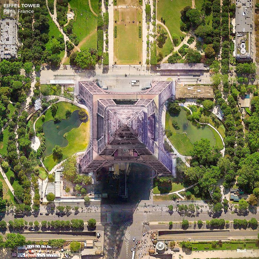 Vẻ đẹp những địa điểm mang tính biểu tượng nhìn từ trên cao