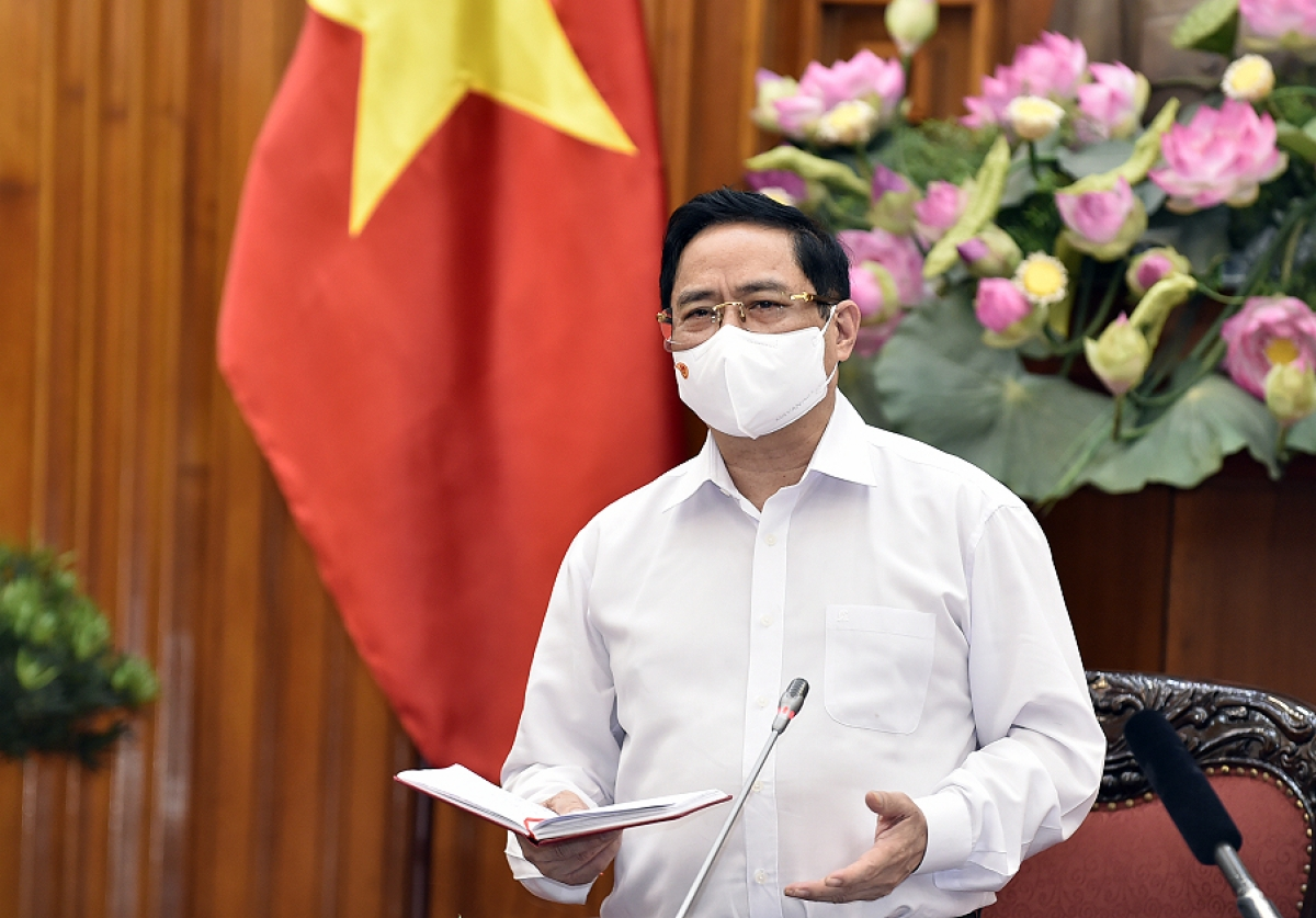 Thủ tướng Phạm Minh Chính phát biểu tại hội nghị. Ảnh: VGP