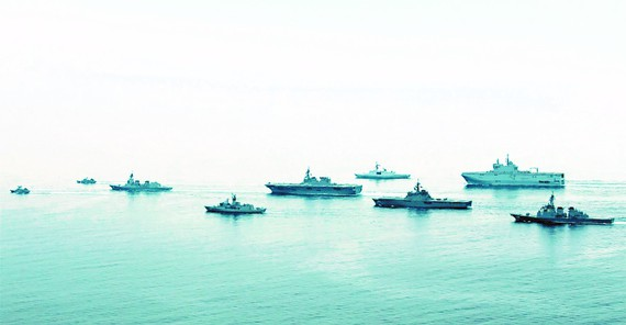 کشتی های جنگی کشورهای شرکت کننده در تمرین ARC21