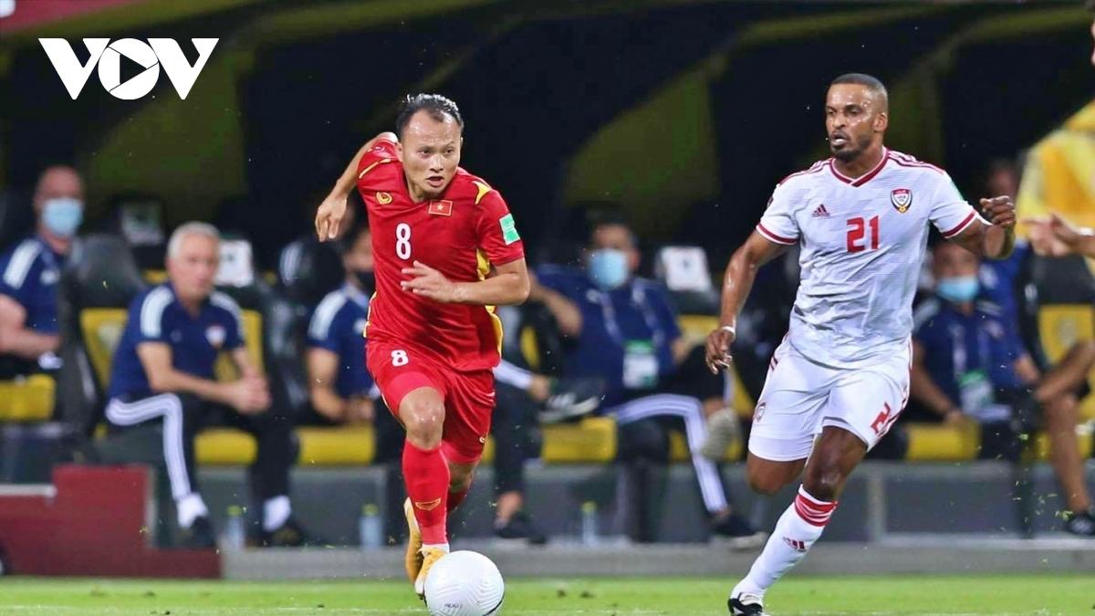 ĐT Việt Nam thua ĐT UAE nhưng vẫn giành vé đi tiếp (Ảnh: CTV Yểu Mai).