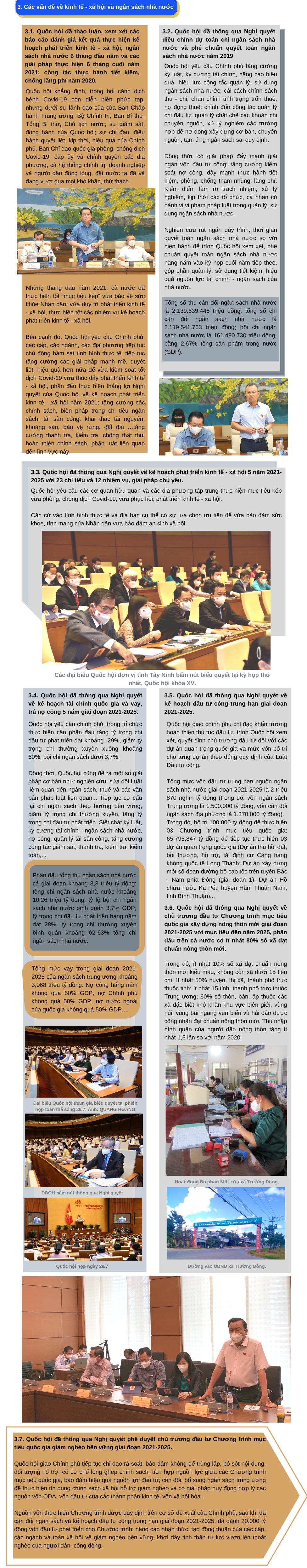 Đoàn đại biểu Quốc hội đơn vị tỉnh Tây Ninh báo cáo kết quả Kỳ họp thứ nhất Quốc hội khóa XV đến cử tri tỉnh nhà
