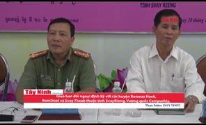 Châu Thành: Giao ban đối ngoại định kỳ với các huyện thuộc tỉnh SvayRieng, Vương quốc Campuchia.