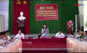 Lãnh đạo huyện DMC đối thoại với nhân dân về công tác xây dựng Đảng và chính quyền