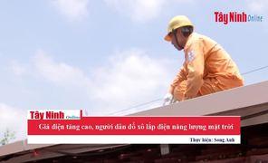 Giá điện tăng cao, người dân đổ xô lắp hệ thống điện năng lượng mặt trời