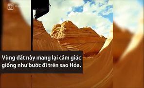 Khu đá sa thạch 200 triệu tuổi ở Mỹ giống vùng đất sao Hỏa