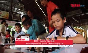 200 kỳ thủ nhí Tây Ninh hào hứng tham dự giải cờ vua nhân ngày 1.6