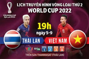 Trực tiếp trận đấu giữa Thái Lan và Việt Nam (Vòng loại World Cup 2022,19:00 hôm nay)