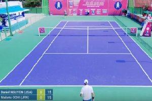 Trực tiếp trận thi đấu đơn nam giữa tay vợt Daniel NGUYEN và Makoto OCHI