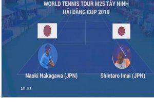 Trực tiếp trận đơn nam giữa Naoki Nakagawa  và Shintaro Imai