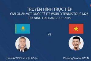 Trực tiếp trận đơn nam Giải quần vợt quốc tế ITF Men's Futures M25 Tây Ninh – Hải Đăng Cúp 2019