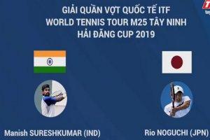 Trực tiếp trận Tứ kết đơn nam giữa Manish Sureskumar và Rio Noguchi