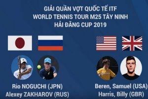 Trực tiếp trận chung kết đô nam Giải quần vợt quốc tế ITF Men's Futures M25 Tây Ninh – Hải Đăng Cúp 2019