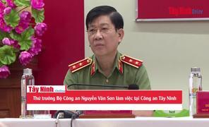 Thứ trưởng Bộ Công an Nguyễn Văn Sơn làm việc tại Công an Tây Ninh