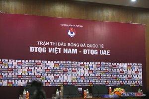 Trực tiếp họp báo Việt Nam và UAE: HLV Van Marwijk nói gì?