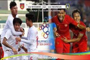 [Trực tiếp] Bán kết U22 Indonesia và U22 Myanmar