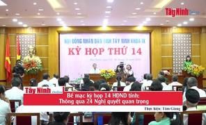Bế mạc kỳ họp 14 HĐND tỉnh: Thông qua 24 Nghị quyết quan trọng