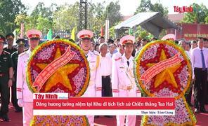 Dâng hương tưởng niệm tại Khu di tích lịch sử Chiến thắng Tua Hai