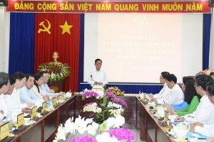 Uỷ ban Kiểm tra Trung ương làm việc với Uỷ ban Kiểm tra Tỉnh uỷ Tây Ninh