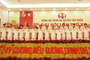 Đảng bộ Công an Tân Châu tổ chức Đại hội lần thứ X, nhiệm kỳ 2020 – 2025