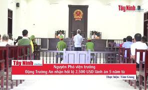 Nguyên Phó viện trưởng Đặng Trường An nhận hối lộ 2.500 USD lãnh án 5 năm tù