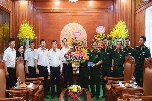 Lãnh đạo tỉnh thăm, chúc mừng Ngày truyền thống Bộ đội biên phòng