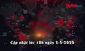 Video Cập nhật mới nhất tình hình dịch bệnh Covid-19 tính đến 18 giờ 00, ngày 02.5.2020