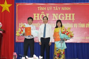 Công bố Quyết định điều động, bổ nhiệm Bí thư Huyện ủy Dương Minh Châu