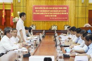 Đoàn Kiểm tra Ban Chỉ đạo Trung ương tổng kết Quyết định 290 làm việc tại Tây Ninh