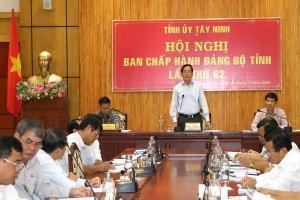 Hội nghị Ban Chấp hành Đảng bộ tỉnh lần thứ 62