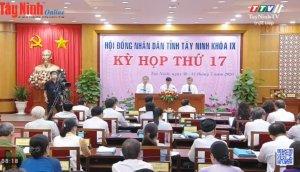 THTT: Phiên Chất vấn, kỳ họp lần thứ 17, HĐND tỉnh Tây Ninh khóa IX, nhiệm kỳ 2016-2021.