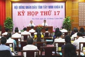 Khai mạc kỳ họp thứ 17, HĐND tỉnh Tây Ninh khoá IX, nhiệm kỳ 2016-2021
