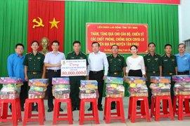 LĐLĐ tỉnh: Thăm, tặng quà lực lượng Biên phòng tham gia phòng, chống dịch Covid-19