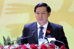 Bí thư Tỉnh uỷ, Chủ tịch HĐND tỉnh Nguyễn Thành Tâm phát biểu khai mạc Đại hội