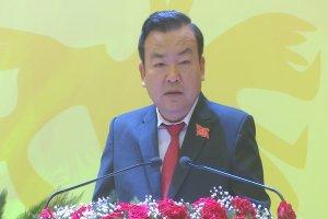 Đồng chí Phạm Hùng Thái-Phó Bí thư Tỉnh ủy, Trưởng ban Nội chính Tỉnh ủy phát biểu thông qua Nghị quyết Đại hội