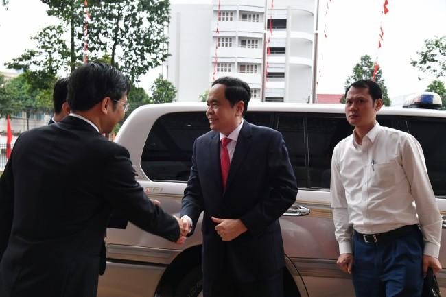 Bí thư Trung ương Đảng, Chủ tịch Uỷ ban Trung ương Mặt trận Tổ quốc Việt Nam Trần Thanh Mẫn đến dự và chỉ đạo đại hội.