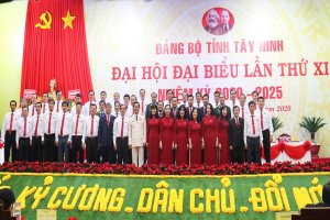 Bế mạc Đại hội Đảng bộ tỉnh Tây Ninh khóa XI, nhiệm kỳ 2020 - 2025