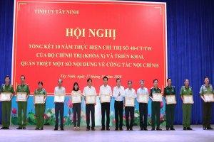 Tỉnh uỷ Tây Ninh tổng kết Chỉ thị số 48-CT/TW của Bộ Chính trị