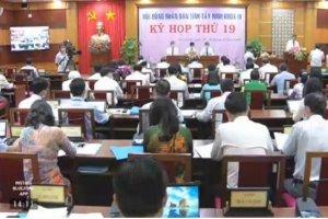Phiên chất vấn và trả lời chất vấn, kỳ họp lần thứ 19 HĐND tỉnh Tây Ninh, khóa IX, nhiệm kỳ 2016-2021
