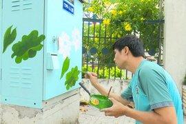 Vẽ hoa văn trên các tủ điện làm đẹp đường phố