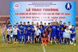 Kha Mỹ Dung FC vô địch Giải bóng đá các CLB tỉnh Tây Ninh–Cúp Hải Đăng 2021